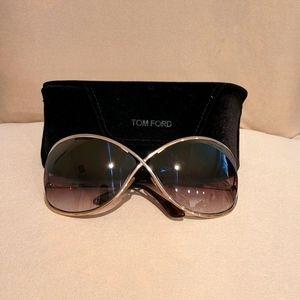 Tom Ford Sunglasses Gold frame light Brown lenses